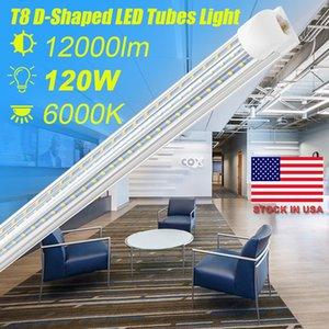 SUNWAY-CN , LED Tube 8FT D Shaped V Shaped 4 Feet 8Feet T8 Integrated Tube Cooler Door Double Sides 3 Rows 120W LED Fluorescent Tube Light