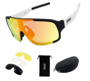 Erkekler UV400 Bisiklet Binme Güneş Polarize gözlükler POC istemek 4 LENSLER