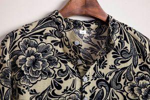 Mens shirt Camisa Casual Hawaiian Printing Short sleeve Mens shirt Streetwear Ethnic Cotton Linen Blouse camisa social masculina