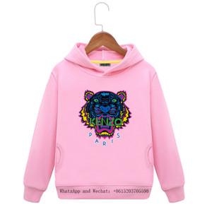 Hoodies crianças tigre roupas infantis crianças jaqueta de outono dress novo padrão de impressão cap cinto catchwords bebê maré de vestuário dos desenhos animados