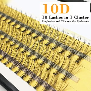 QSTY 3 Rows Faux mink individual eyelash lashes maquiagem cilios for professionals soft mink eyelash extension