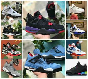 2020 NEW 4s PURe Motorsport Деньги пОлУБОтИНкИ Черный Инфракрасный NRG Рэпторс Баскетбол Черный Белый цемент Graffiti Cactus мужские 4 Бред Royalty Sneaker