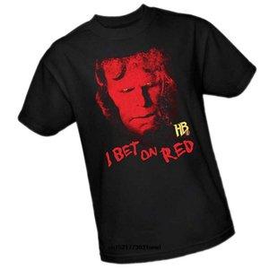 Hellboy II komik tshirt yenilik tişört kadınlar - Kırmızı On Erkekler Tişörtlü ben Bahis