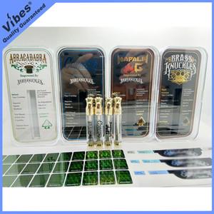 Пустая 510 тема густого масла Vape Картриджи Brass Knuckles Connected Абракадабра Nap Тележка Ручка с голограммой наклейкой