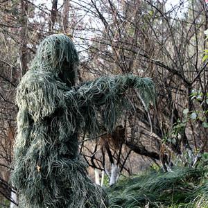 Geely Costume da selva camuflagem de invisibilidade traje de camuflagem terno do exército 5pcs camuflagem terno / set Tactical Jacket Ternos de Ghillie