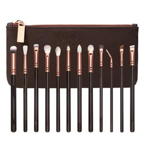Kılıf Ücretsiz Kargo ile Profesyonel Göz Makyajı Rutin Kozmetik Araçları için 12 Essential Fırçalar Makyaj Fırçası