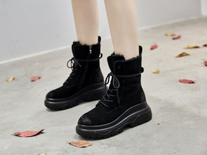 SWYIVY женщин Снег Boots High Top Genuin Кожа Замша Женский Fur теплая зима обувь Платформа 2018 Velvet Lady Snowboots Boots