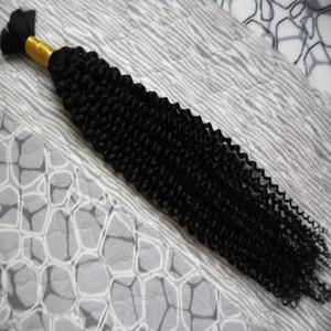 벌크 아프리카 곱슬 머리 곱슬 머리카빙 머리카락을 어루 만용 100g 위빙 인체 머리카락 100g 아니오 허름 인간 머리카락 묶음