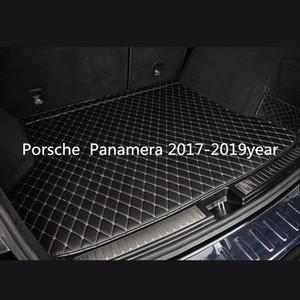 Porsche Panamera 2017-2019year Auto Anti-Rutsch-Matte Individuelle Anti-Rutsch-Leder Auto Kofferraummatte Bodenmatte geeignet