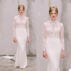 2020 Sheath Lace Long Sleeve Cheap Wedding Dresses bridal Gown princess simple wedding gown vestidos de novia bohemian dresses