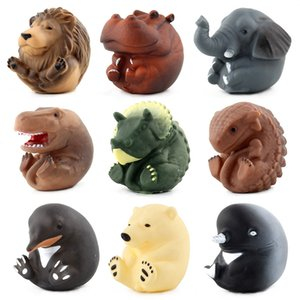 Baby Play with Water Bath Soft Silcone BB Called Cartoon Small Animal Toy Parent And Child Interactive Vinyl Floating Animal Mul