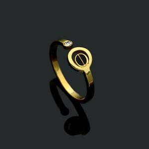 acero de titanio joyas de tendencia de uñas negro diamante único anillo a cielo abierto 2019 de moda para damas anillo semental negro rosa anillo de amor oro
