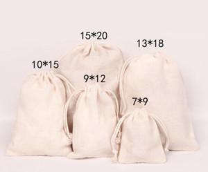 Leinwand Kordelzug Beutel Schmuckbeutel 100% natürliche Baumwolle Wäsche gefallen Halter Modeschmuck Beutel Epacket frei