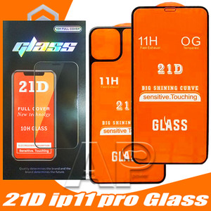 21D Front + Back Full Kleber Gehärtetes Glas für iPhone 11 Pro Max Full Cover Protector für iPhone x XR xs Max Screen Schutzglas