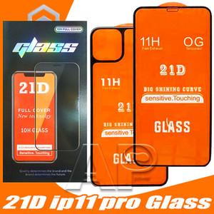 21d front + الظهر كامل الغراء الزجاج المقسى لفون 11 برو ماكس غطاء كامل حامي ل فون x xr xs ماكس شاشة واقية زجاج