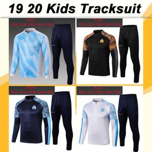 19 20 Thauvin Crianças paletó Kit de Futebol PAYET L. GUSTAVO SANSON OM preto Formação Criança camisas do futebol Treino Maillot de pé