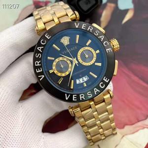 quadrante nero moda calendario automatico sconto braccialetto d'oro dono maestro menswear nuovo orologio marchio di abbigliamento maschile di alta gamma desig militare dei nuovi uomini