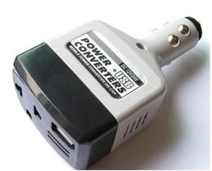 Universal 2 en 1 DC 12V 24V a AC 220V Auto Mobile Car Converter Converter Adapter Adapter Charger Withusb Charger Socket Encendedor con seguimiento