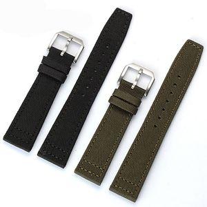 Livraison gratuite 20 mm 21 mm 22 mm Bracelet en acier inoxydable Ardillon Noir / Geen / nylon avec cuir bas du bracelet montre bracelet pour le Portugal pilotes