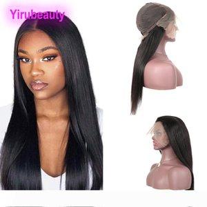 말레이시아 버진 헤어 스트레이트 13X6 레이스 프런트 가발 Nautral 컬러 100 % 6 레이스 가발 Yirubeauty으로 인간의 머리 가발 (13)