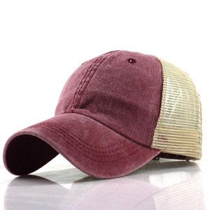 water wash cotton solid-colored light plate net cap baseball cap men and women Korean version of the tide spring and summer