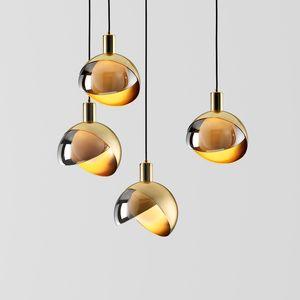 piccolo creativa personalità comodino bar ristorante lampada lampadario Led Chandelie nordico moderno e minimalista oro singola testa
