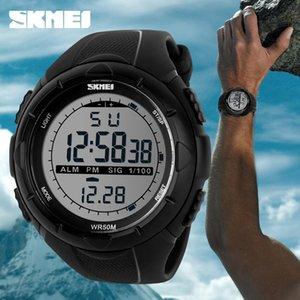 Caliente SKMEI lujo de la marca para hombre Relojes deportivos buceo 50m LED Reloj Militar digital muchacho de los hombres ocasionales de la manera de pulsera Electrónica LY191213