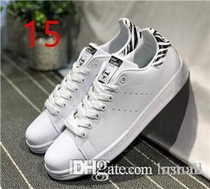 2018 New Originals Stan Smith Chaussures Femme Homme cuir espadrilles Superstars chaussures de planche à roulettes blanc bleu Stan Smith RRMALL