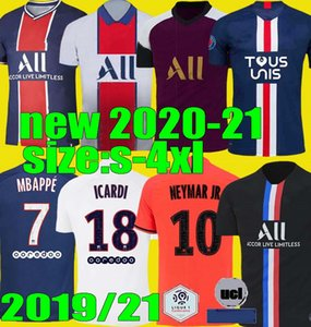 Größe S - 4XL Paris Maillots de Fußballhemd 2020 2021 PSG 4. Fußball Jerseys 20 21 Mbappe ICARDI Marquinhos maillot de foot Camisa
