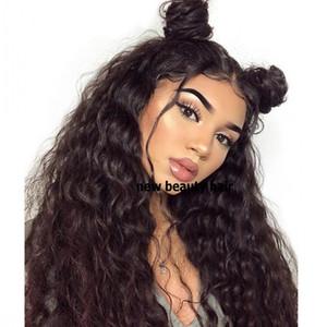Big capelli sciolti parrucca dell'onda 200% merletto anteriore parrucche sintetiche Per il nero 13x4 donne brasiliane glueless parrucca frontale con i capelli del bambino