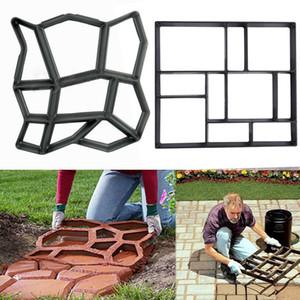 Molde de pavimentación de plástico de alta calidad paso a paso calzada camino de piedra molde del patio fabricante de jardín herramientas decoradas diy molde de ladrillo