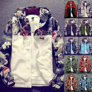 Uomini Camouflage con cappuccio Jacket 2020 Nuovo Autunno farfalla Stampa di vestiti da uomo casual con cappuccio giacca a vento cappotto maschile Outwear S-XXXXL