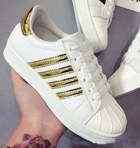 Designer- klassischen Sport-Freizeit-kleine weißen Schuhe Männer und Frauen Shell Kopf Brettschuhe