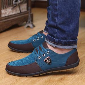 GOXPACER Homens Outono Sapatos Homens Flats Canvas Cordas sapatos respirável sapatos casuais Individual Flats Homens Estilo Moda Verão