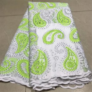 Soft Fashion African Lace Fabric for Woman Dresses Shirts Scarves Blouse Swiss Voile Nigerian Lace Fabric 5 Yards 100% Ployester
