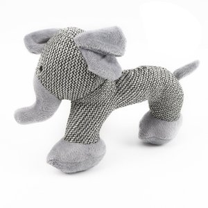 Dog Squeak Sound Toy Interactive Plush Dog Toys Pet Chew Toys For Small Large Dogs Play Funny Training Gray Elephant