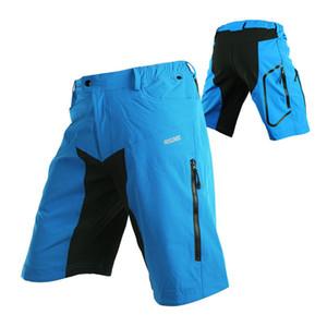 Pantalones para hombres Pantalones cortos de ciclista de la bicicleta de motocross deportes al aire libre que va de excursión Pantalones cortos Ropa de descenso de MTB Mountain Bike Short