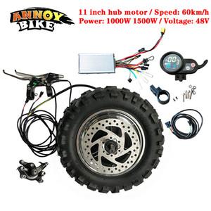 High-Speed-LY 11-Zoll-Naben-Motor Kit 48V1000W1500W elektrischen Motorrad-Motor BuggyGearless TX Motor 60km / h Elektrosatz Fat Tire