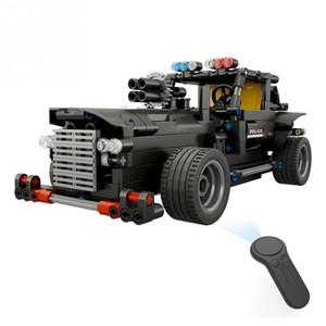 2019 fai da te elettrico RC Car Kit di giocattoli 2.4 Ghz 4CH Building Blocks Modello di comando auto veicolo assemblaggio giocattoli per i bambini regalo di compleanno