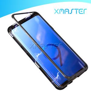 Для Samsung Note 20 S20 Ultra A71 A21S A11 A01 Магнитная адсорбция Закаленное стекло Назад Панель Телефонный Чехол Магнит Полный Крышка для мобильного телефона