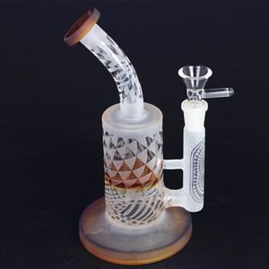 Nouveau design Sablage Verre Verre Tuyau d'eau BONG 8.5 pouces En Verre Coiffeur DAB Plate-à-Chambre Mini Huile avec gros accessoires de fumeur