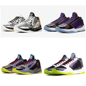 zapatos de baloncesto mamba 5 PROTRO Caos para hombre 5s deporte diseñador Prelude V Lakers caballero de la noche púrpura De Negro anillos formadores hombres zapatillas de deporte