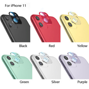 Metal Camera Lens Ring + screen protector For iPhone 11 Pro Max 11 Film Guard Circle Cover With Retail Package