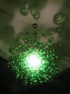 Les ventes à chaud Champignon vert Forme 100% fait main Murano plafond Cuisine Joli décor Pendant Light Fixtures Livraison gratuite