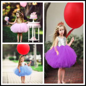 Cute Girl Lace Paillette Camisole Dress High Quality Kids Baby Princess Party Bowknot Rainbow Color Pretty Sleeveless Skirt New Fashion 2020