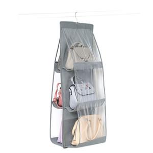 6 de bolso Folding Hanging Titular Bolsa de armazenamento Organizer rack Gancho Cabide 6 cores