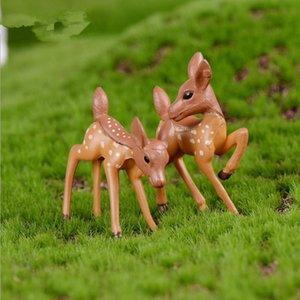Minyatür Geyik Sevgilisi Karikatür Fawn Bebek Moss Teraryum Yaratıcı Zanaat Mikro Peyzaj Süsler Masaüstü DIY Aksesuarları