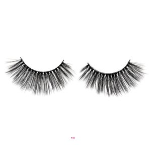 False eyelashes 3D hand-made natural long lengthing eye end lashes thick black soft comfortable spiky sticky for eye make-up #40