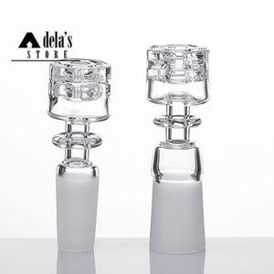 Diamant noeud Quartz Nail Double Stack Stacker 10mm 18mm 14mm Homme Femme design élégant Pas Carb Cap Club cadeau papa Rig 409