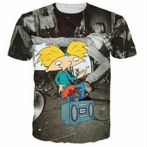 2019 nuevas camisetas PLstar Cosmos Harajuku Kurt Cobain camiseta 3d Mujeres Hombres wicked 90s combo clásico Nickelodeon camiseta de dibujos animados tees5XL